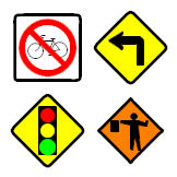Roads Signs Samples