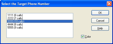 Selecting the Target Phone Number