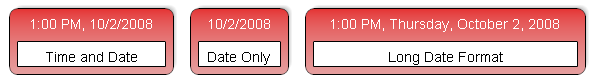 Examples of different time and date formats